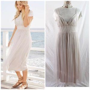 Lauren Conrad Tea Room Dress Gray Morn NWT Size M